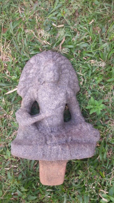 Boddhisatva idol recovered from Ayyanchira pond in Avittatur near Irinjalakuda in late 2014.