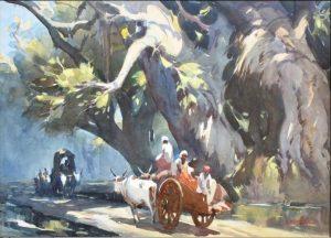 g-d-paulraj-passing-carts-1962
